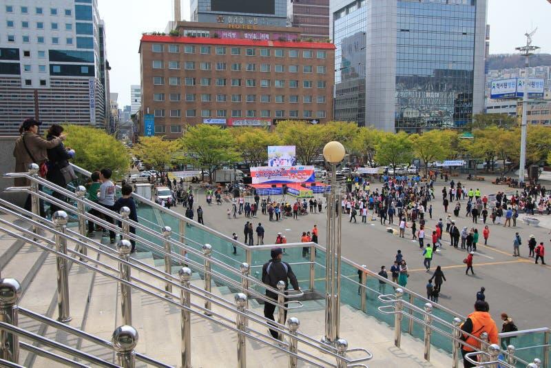 Vista della via a Busan fotografia stock