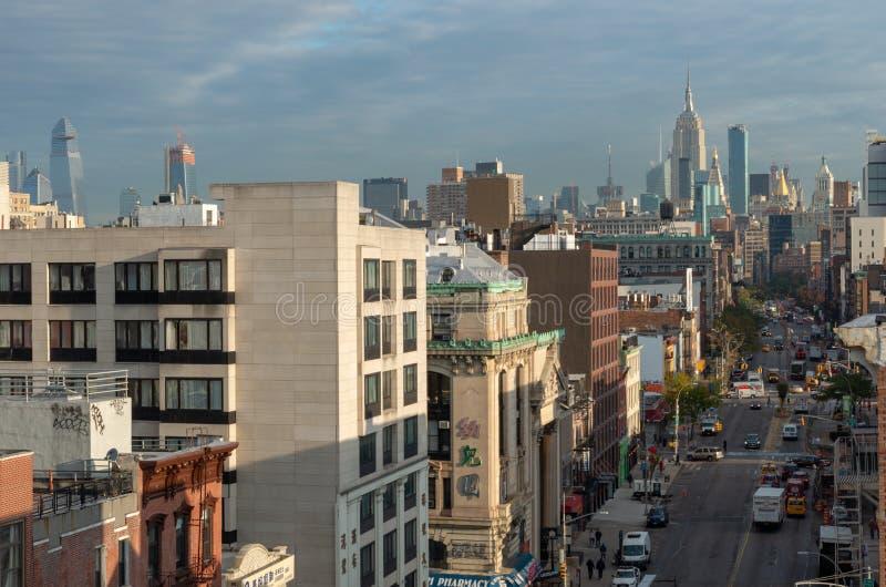 Vista della via in Chinatown in New York fotografie stock