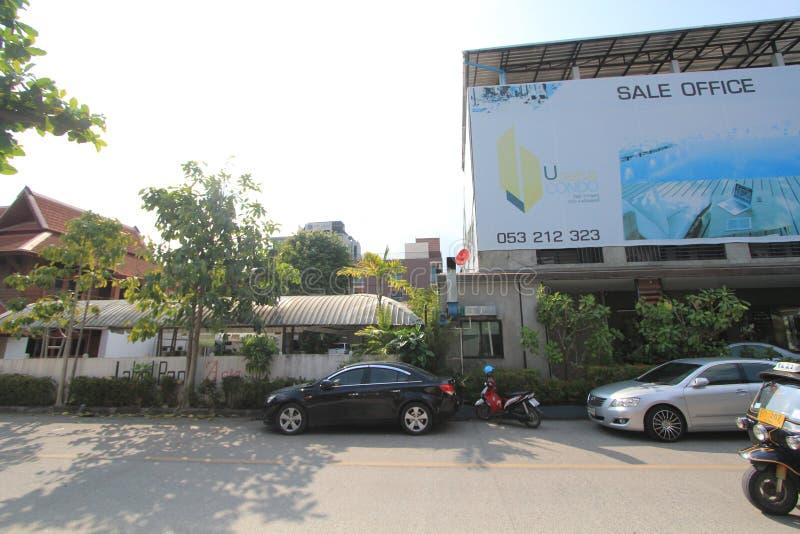 Vista della via della Tailandia Chiang Mai immagine stock