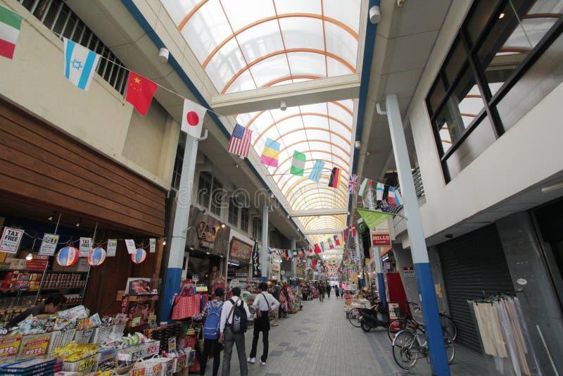 Vista della via di Ishigaki nel Giappone fotografia stock libera da diritti