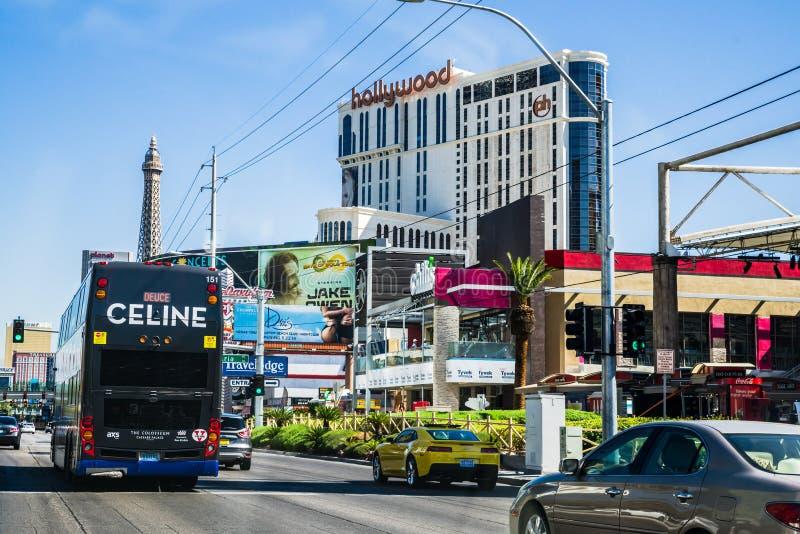 Vista della via di Las Vegas Boulevard immagine stock