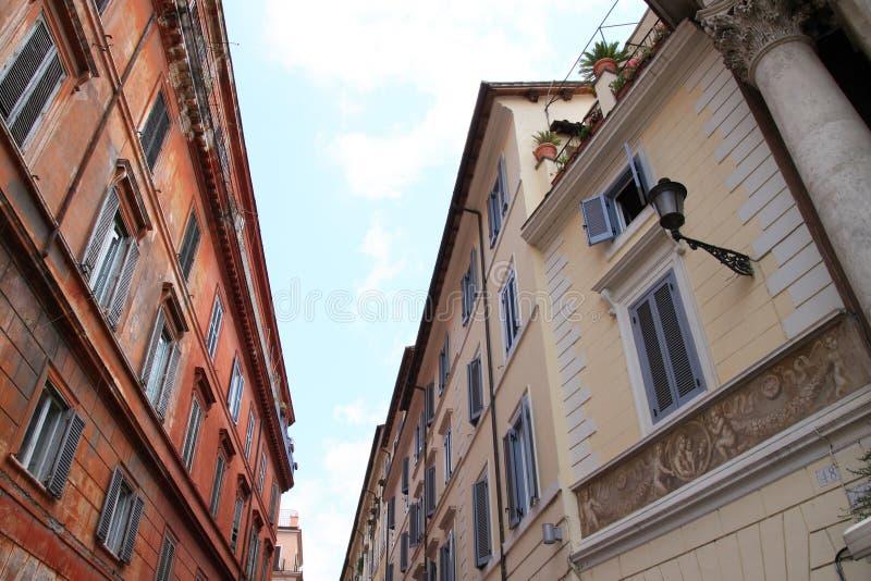 Vista della via di Roma immagine stock