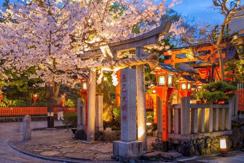 Vista della via di Shinbashi-dori di Gion fotografia stock libera da diritti