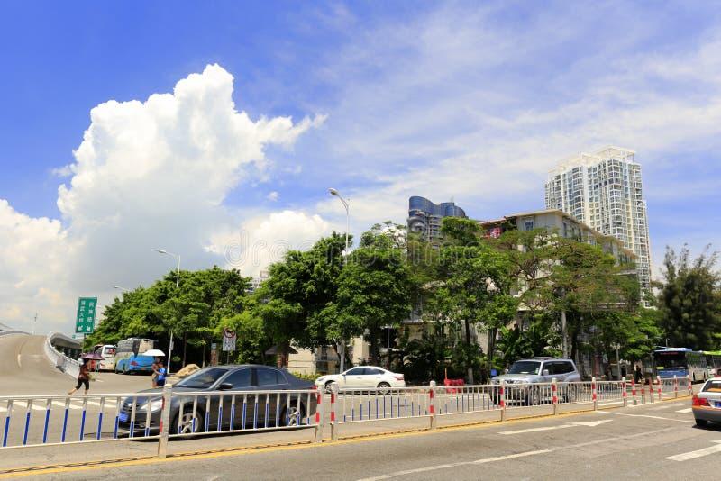 Vista della via di Simingnanlu, adobe rgb immagini stock