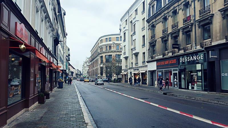 Vista della via in Francia immagine stock libera da diritti