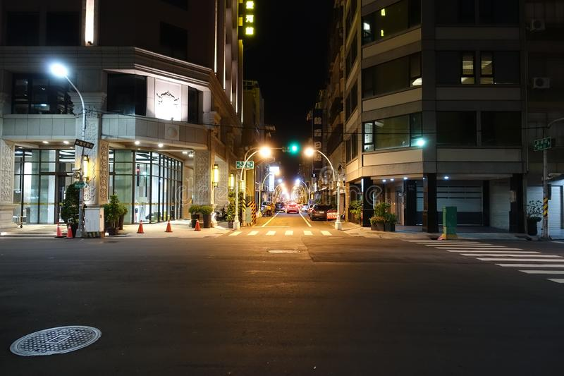 Vista della via a Kaohsiung Taiwan fotografie stock