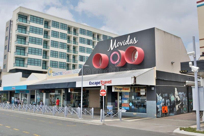 Vista della via in Mackay, Australia fotografia stock