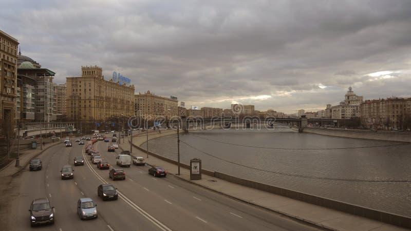 Vista della via moderna in Russia immagini stock