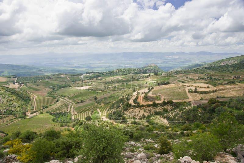 Vista delle alture del Golan immagine stock libera da diritti