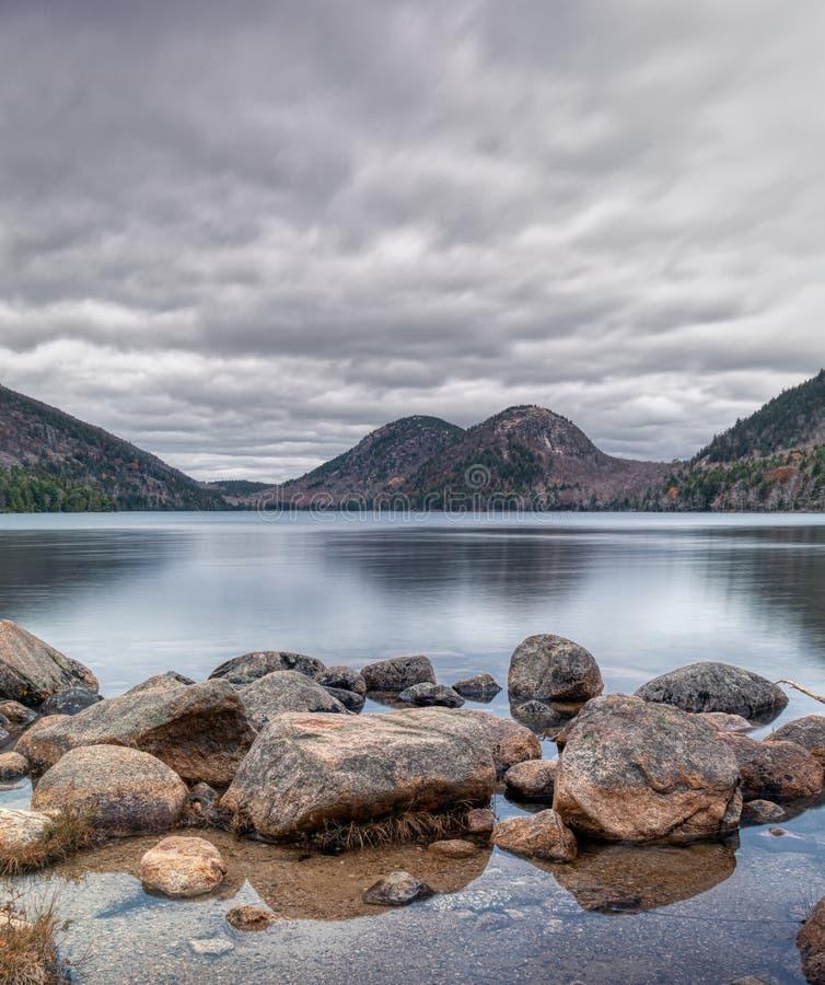 Vista delle bolle nel parco nazionale di acadia fotografia stock