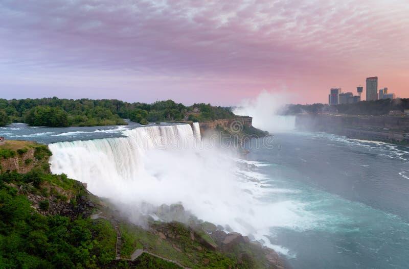 Vista delle cadute americane, Niagara, NY fotografia stock libera da diritti
