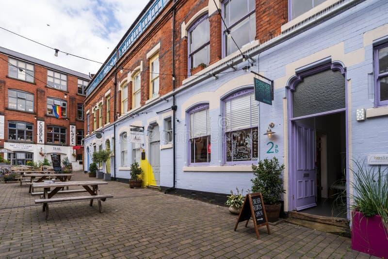 Vista delle camere di cobalto nel centro città di Nottingham, Regno Unito immagine stock