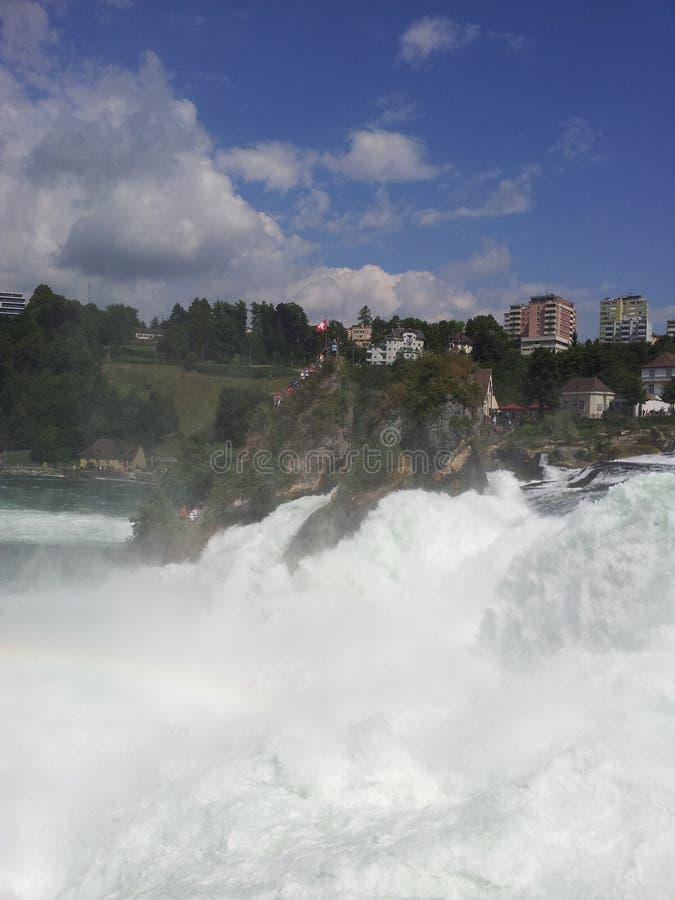 Vista delle cascate del Reno, Svizzera fotografia stock libera da diritti