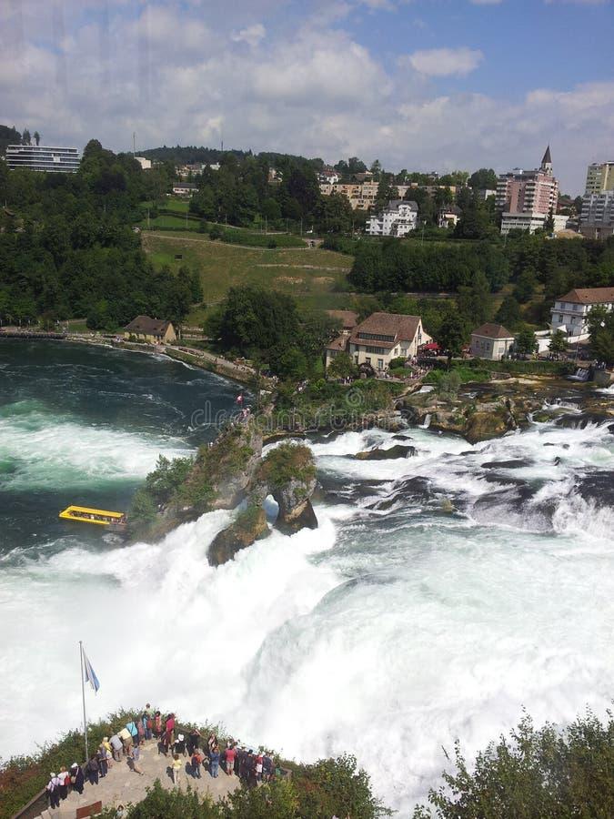 Vista delle cascate del Reno, Svizzera immagine stock libera da diritti
