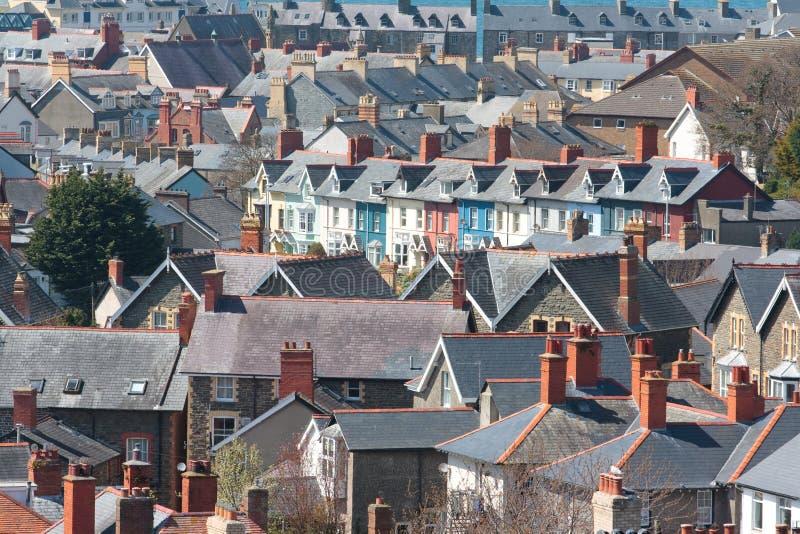 Vista delle case fotografie stock libere da diritti