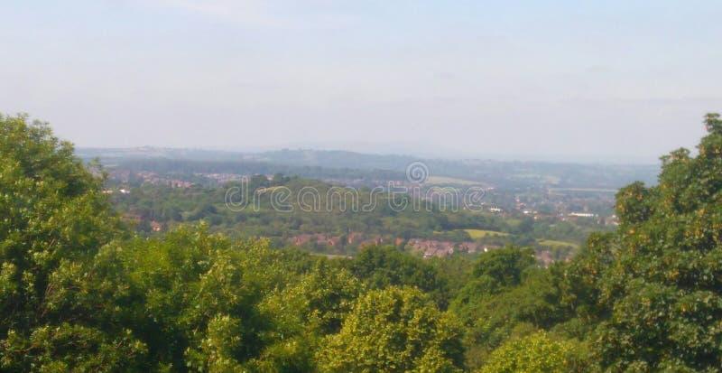 Vista delle colline di Malvern fotografia stock