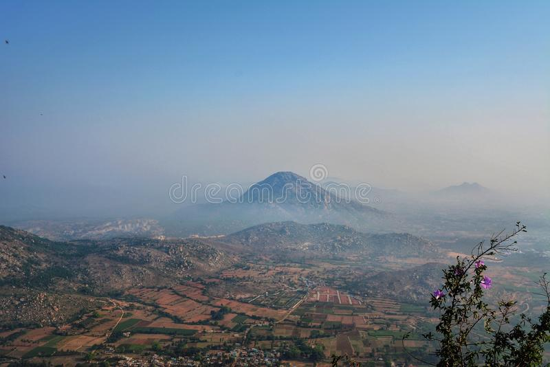 Vista delle colline di Nandi fotografie stock