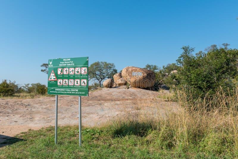 Vista delle compresse di Kruger fotografia stock libera da diritti