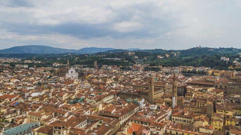 Vista delle costruzioni e della città di Firenze, Italia fotografia stock libera da diritti