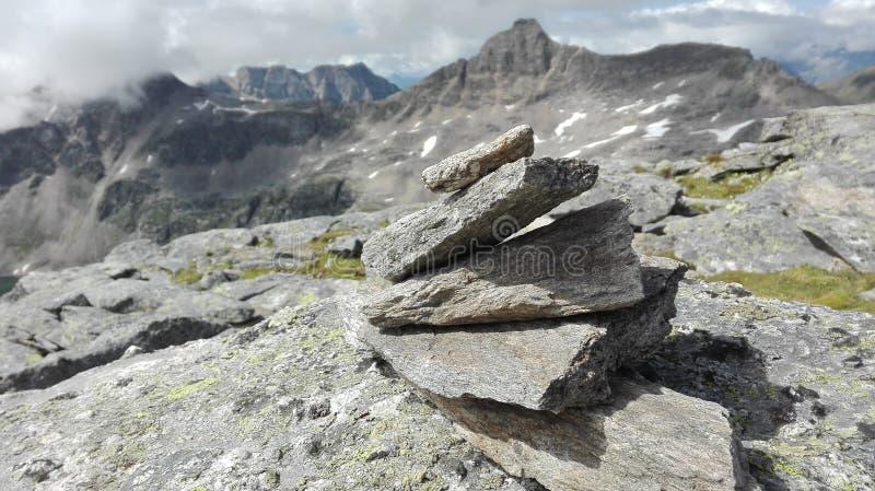 Vista delle montagne immagini stock libere da diritti