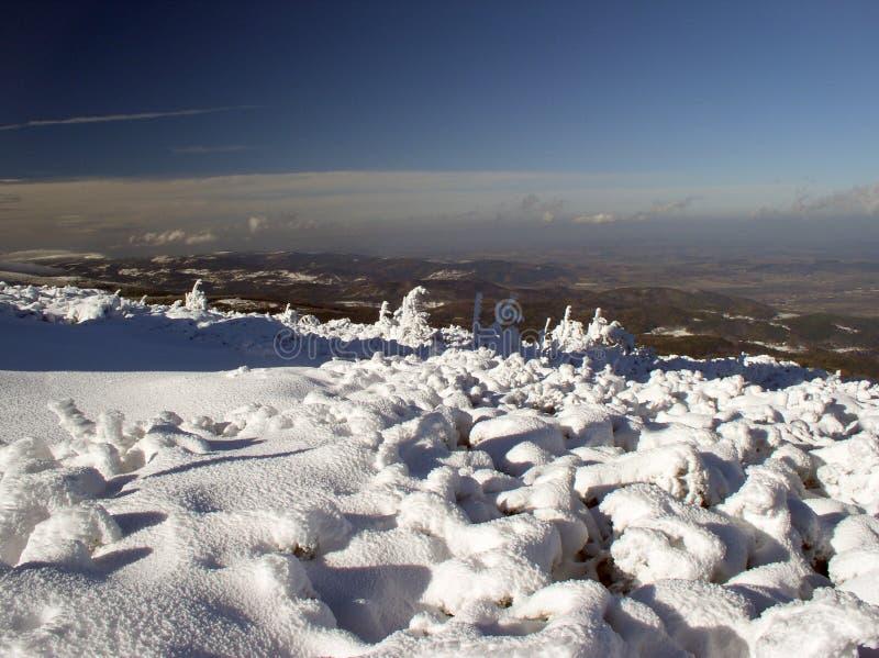 Vista delle montagne di Izerskie immagini stock libere da diritti