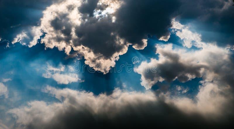 Vista delle nuvole fotografie stock libere da diritti