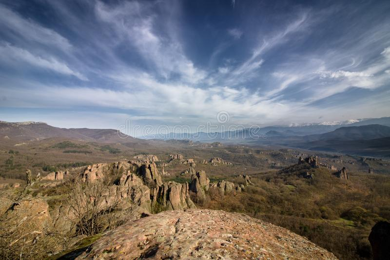 Vista delle rocce di Belogradchik immagini stock libere da diritti