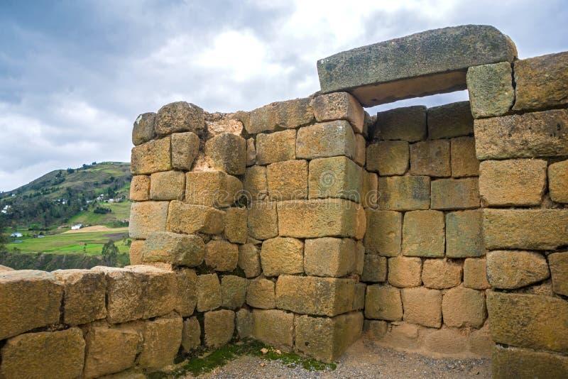 Vista delle rovine di inca di Ingapirca fotografia stock