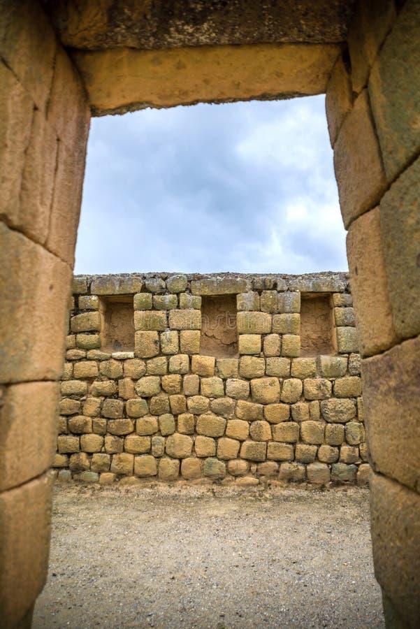Vista delle rovine di inca di Ingapirca immagine stock libera da diritti