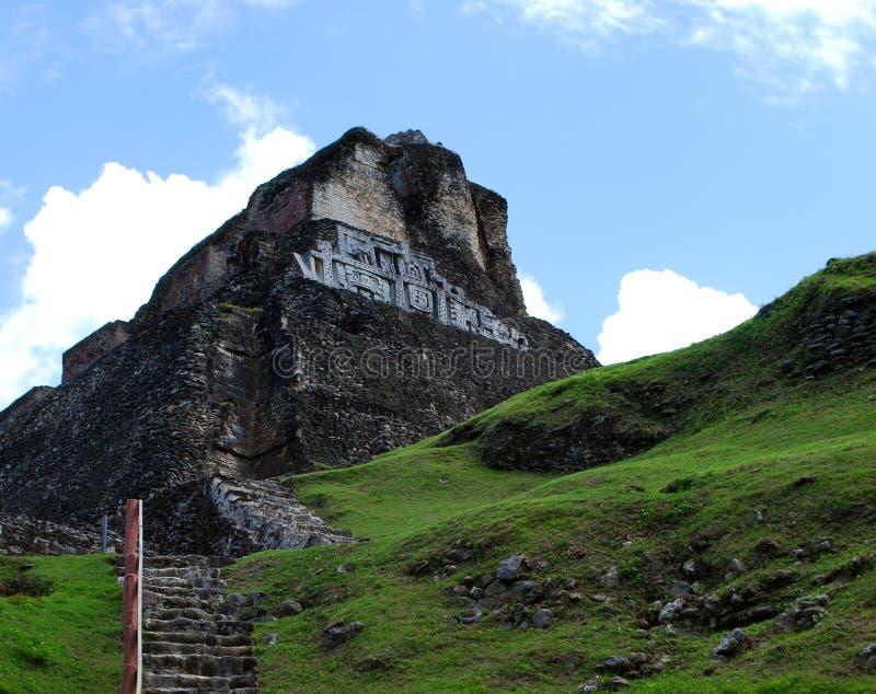 Vista delle rovine maya immagini stock