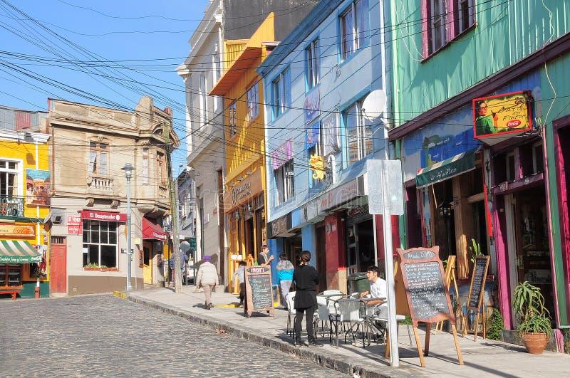 Vista delle vie di Valparaiso fotografia stock libera da diritti