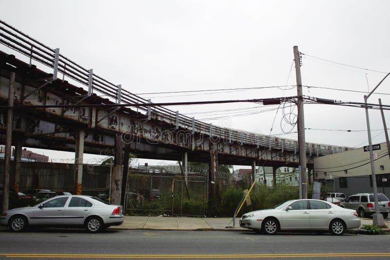 Vista delle vie nel Bronx immagini stock