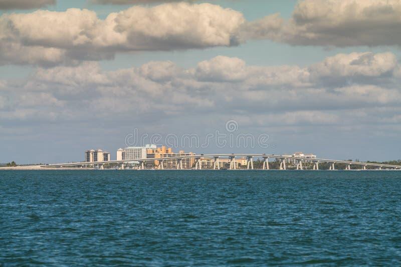 Vista delle zone costiere nel paesaggio di Punta Rassa fotografia stock
