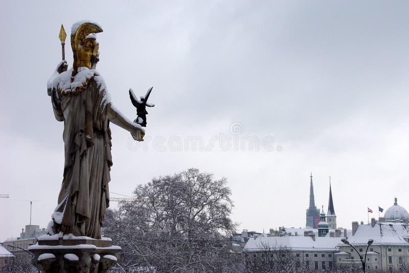 Vista dello Snowy Vienna immagini stock libere da diritti