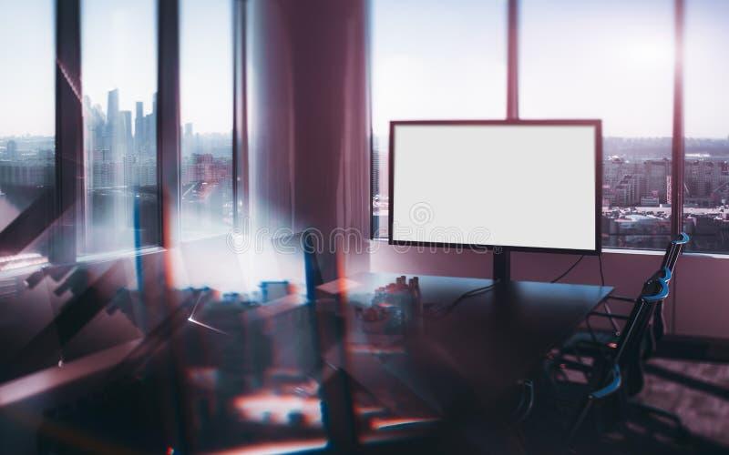 Vista dello spostamento di inclinazione della stanza di lusso dell'ufficio fotografia stock libera da diritti