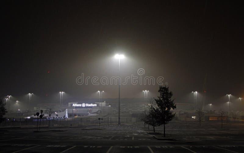 Vista dello stadio dell'Allianz, campo domestico per Juventus fotografia stock