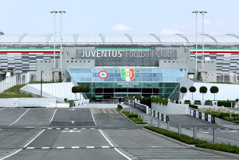 Vista dello stadio di Juventus a Torino, Italia immagini stock libere da diritti