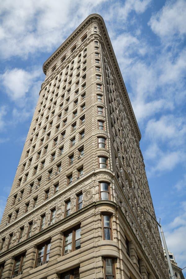 Vista detalhada na construção famosa do ferro de passar roupa em New York City fotos de stock