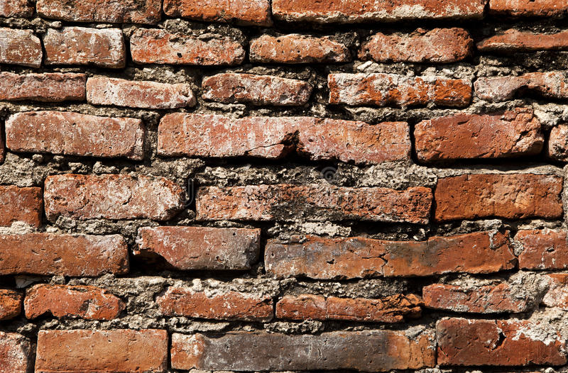 Vista detallada de la pared de ladrillo foto de archivo libre de regalías