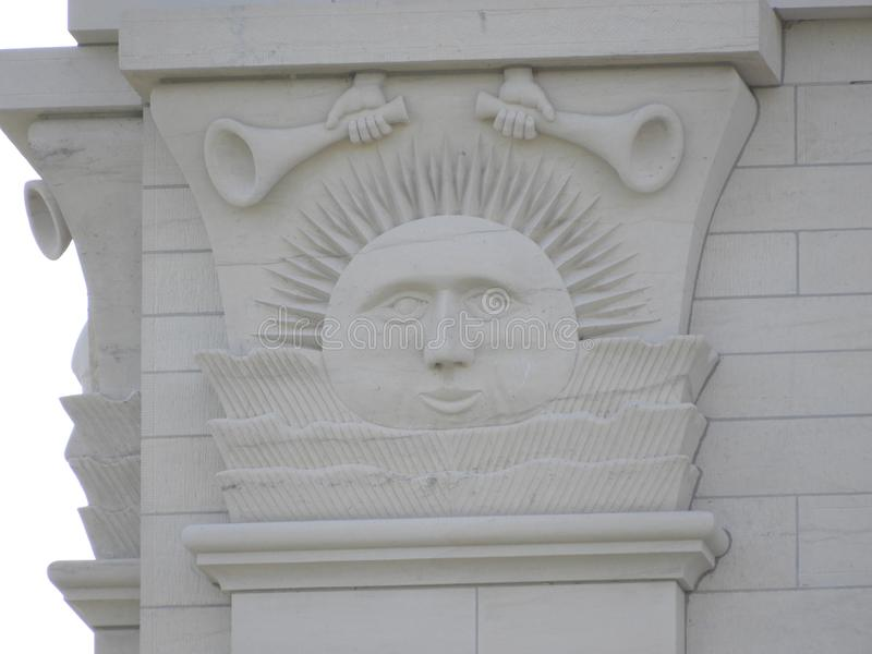 Vista detallada del templo Sunstone de Nauvoo Illinois foto de archivo