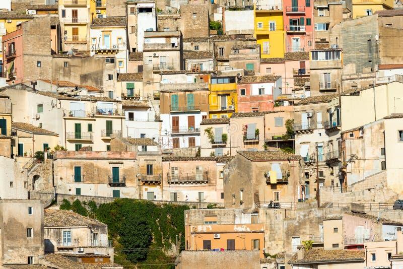 Vista dettagliata di Ragusa Ibla fotografie stock libere da diritti