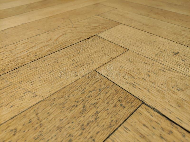 Vista dettagliata di un pavimento di legno fotografia stock libera da diritti