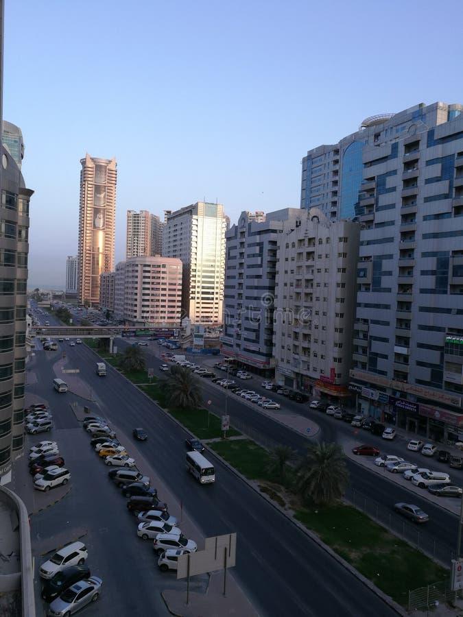 Vista di Ajman fotografie stock libere da diritti
