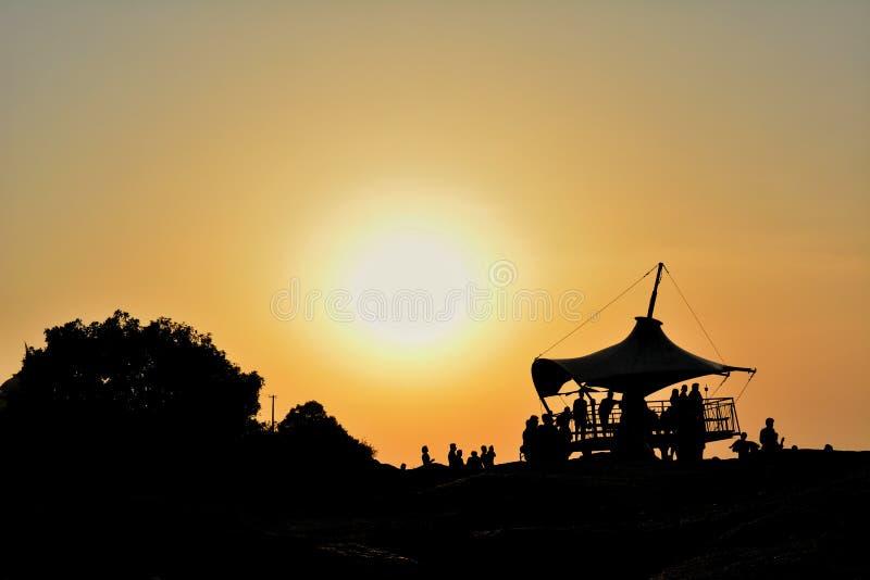 Vista di alba delle colline di Nandi fotografie stock
