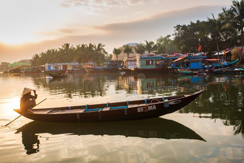 Vista di alba su Città Vecchia di Hoi An vietnam fotografia stock