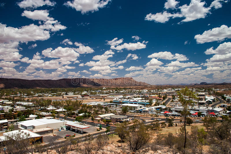 Vista di Alice Springs fotografia stock