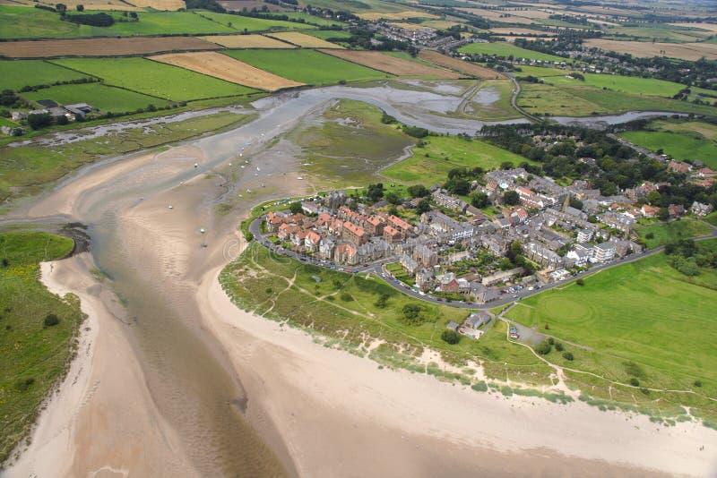 Vista di Alnmouth fotografia stock libera da diritti