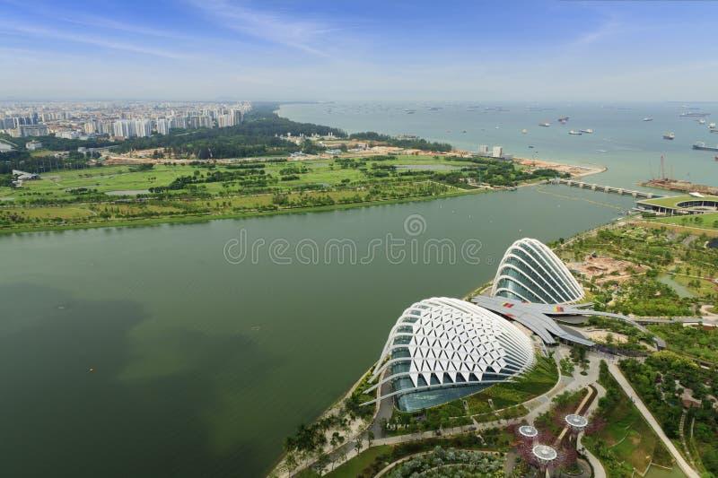 Vista di altezza di Singapore fotografia stock