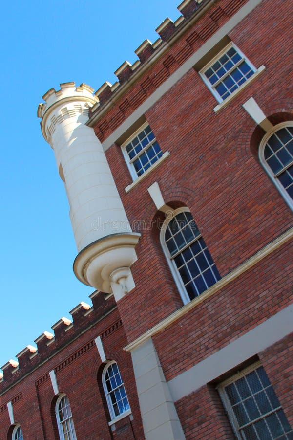 Vista di angolo della chiesa presbiteriana del ` s di St Andrew in Victoria, BC fotografie stock libere da diritti