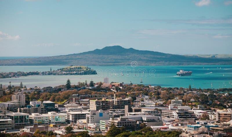 Vista di Auckland dal Mt l'Eden fotografia stock libera da diritti
